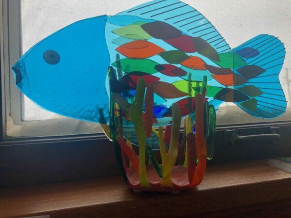"""Francis The Fish"" Glasswork by Nancy Rasmussen"