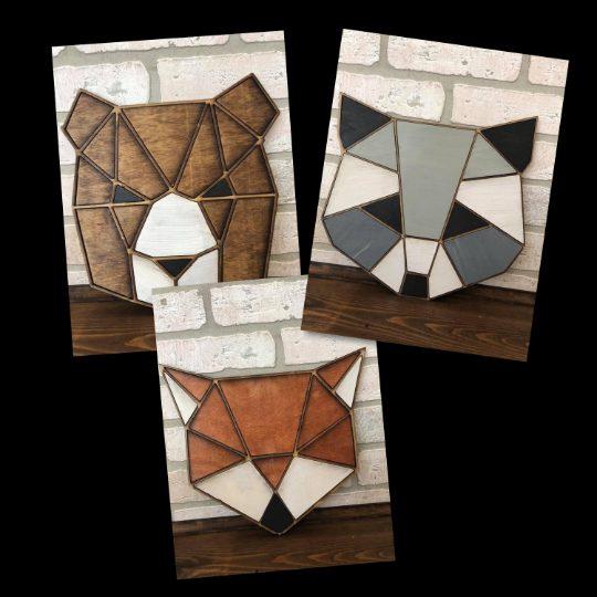 Geometric Woodlands Animals Nursery Decor
