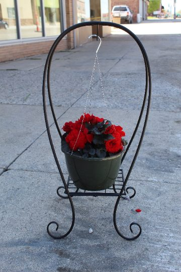 Hanging Basket Flower Stand