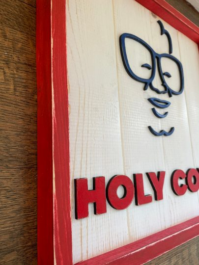 Holy Cow! Harry Caray Baseball Sign