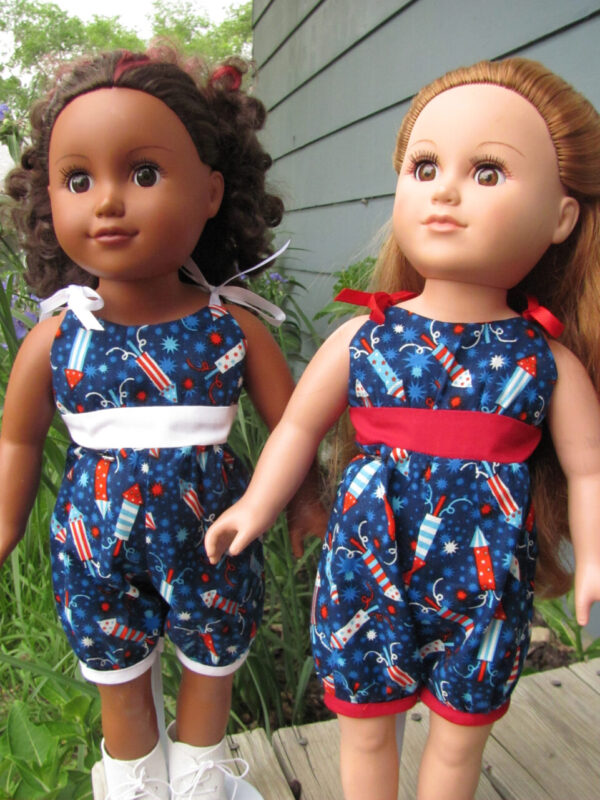 Fourth of July Romper for American Girl Doll – Doll Clothes
