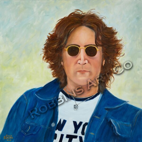 John Lennon NYC Oil Painting by Chris Robbins