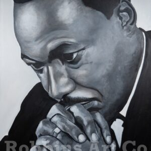 MLK Jr. Oil Painting by Chris Robbins