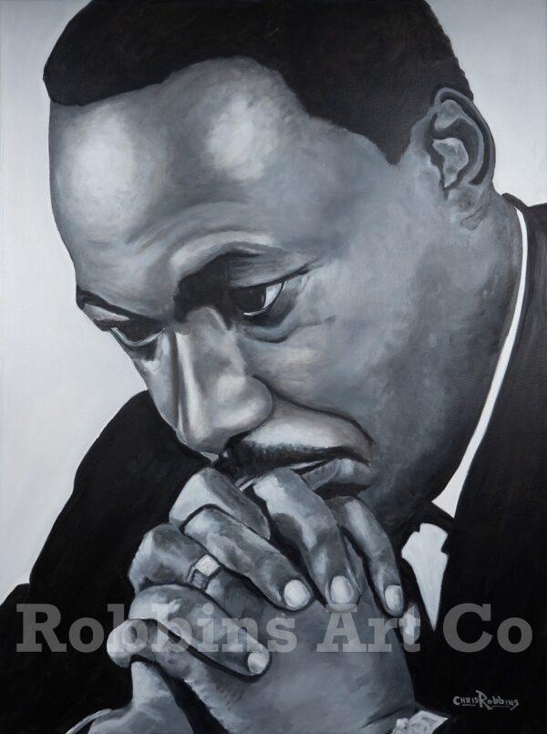 MLK Jr. Oil Painting by Chris Robbins