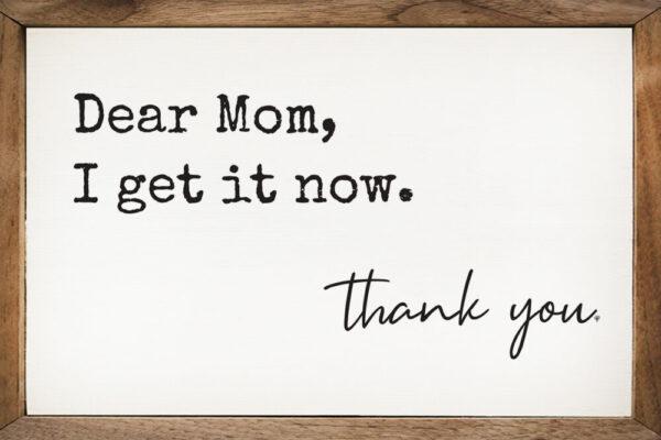 Dear Mom – Kendrick Home Wood Sign