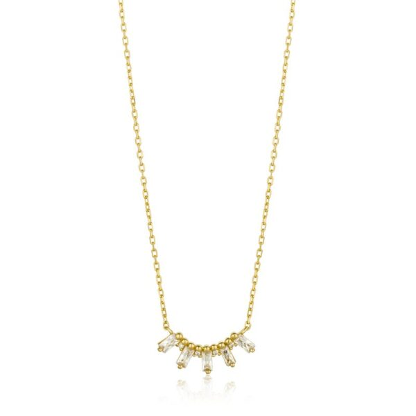 Ania Haie Sterling Silver Necklace with CZ Baquettes