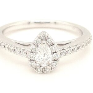 Ostbye 14K White Gold Diamond Engagement Ring