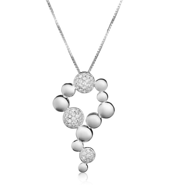 Bentelli Sterling Silver Beehive Pendant with Necklace