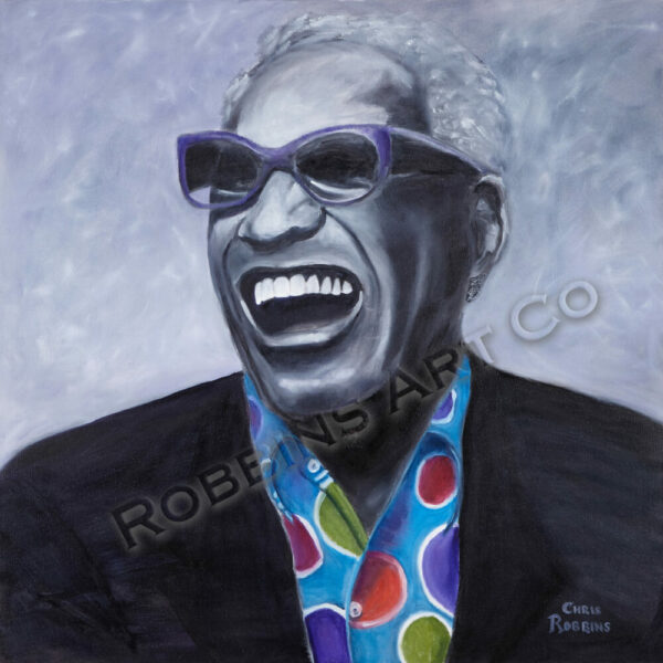Ray Charles Oil Painting by Chris Robbins