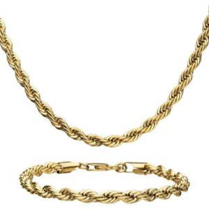 Inox Rope Chain Set