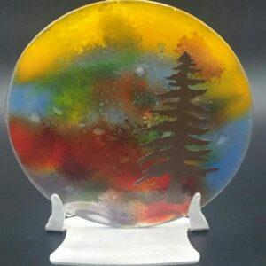 Small Pine Tree glasswork by Nancy Rasmussen