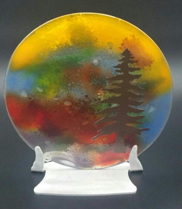 """""""Small Pine Tree"""" Glasswork by Nancy Rasmussen"""