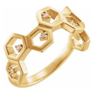 Stueller 14K Yellow Gold Fashion Ring