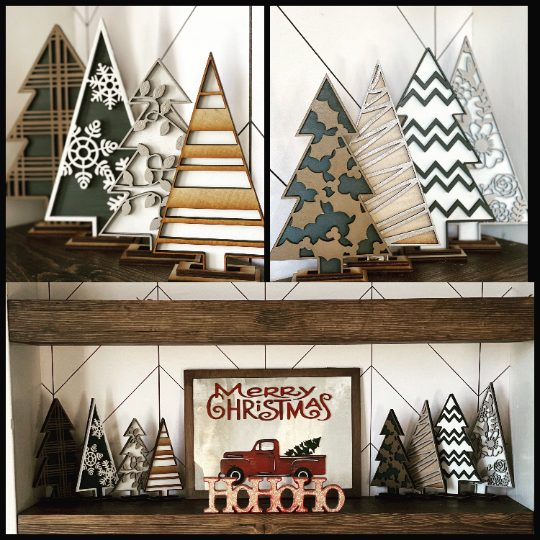 Decorative Wooden Christmas Trees