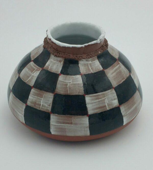 Checkered Pot By Bill Ball