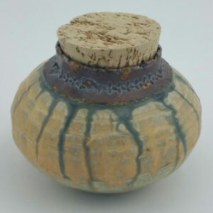 Tan Clay Pot By Bill Ball