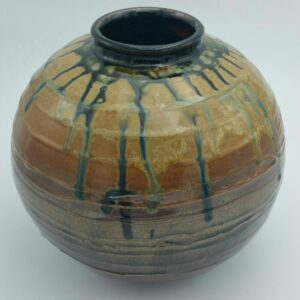 Large Multi-tone Clay Vase by Bill Ball