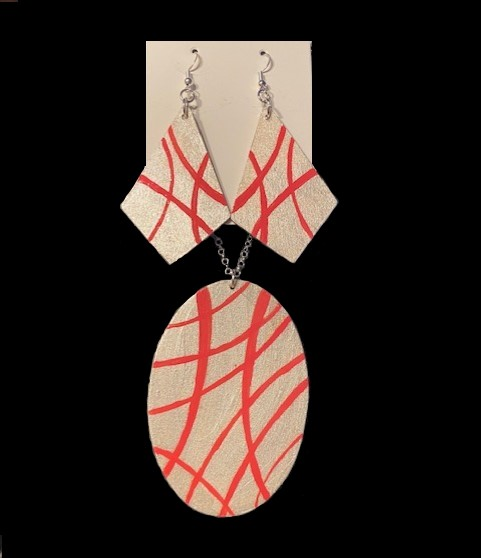 Just Peachy Matching Earring & Necklace Set