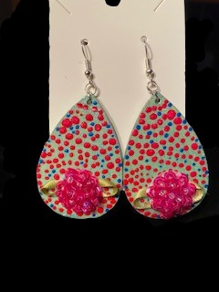 Perfect For Spring! Hand Painted Earrings