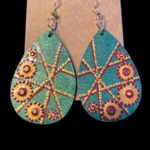 Hand-painted Jewels Earrings