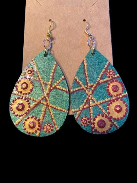 Hand-painted Jewels Earrings