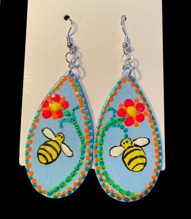Bzzzzzzzz Bee Earrings