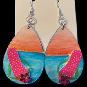 Beach at Sunset Earrings