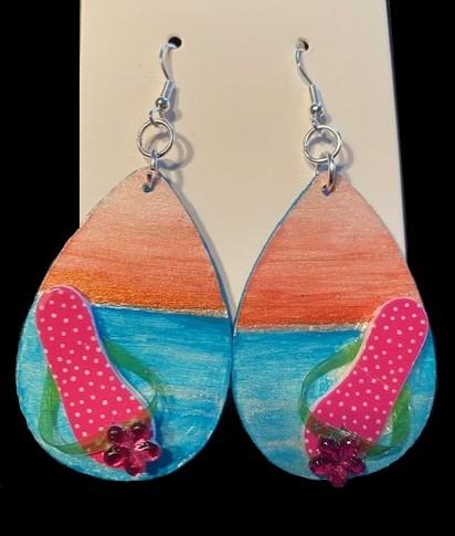 Beach at Sunset Earrings