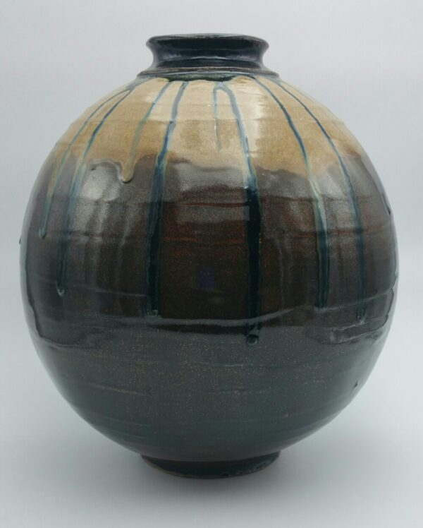 Large Two Tone Clay Vase by Bill Ball