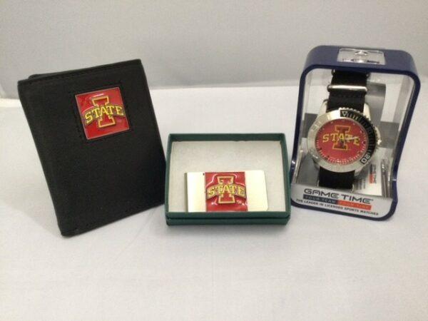 Iowa State Wallet, Money Clip & Watch Gift Collection