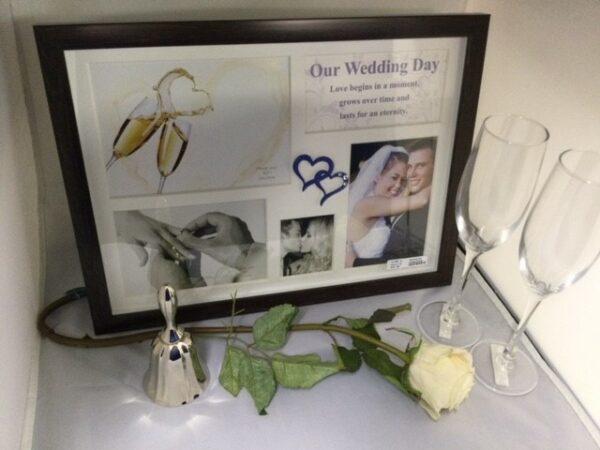 Wedding Frame, Bell & Champagne Glass Gift Set