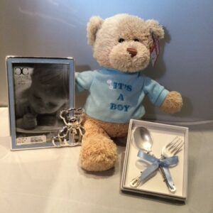 Baby Boy Bear, Spoon & Frame Gift Set