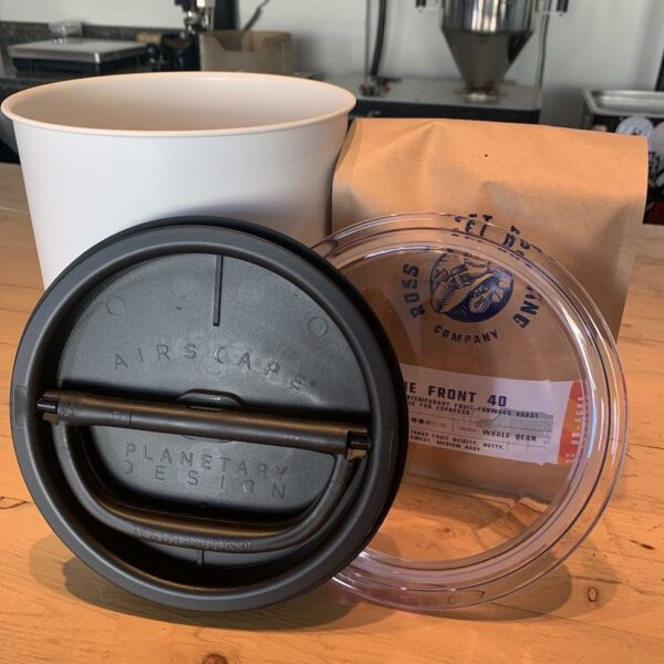 Airscape 2.5 LB Coffee Storage Canister with RSR Logo
