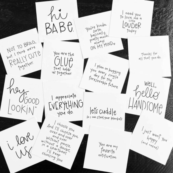 Inspirational SMACK message cards – the {couples} pack