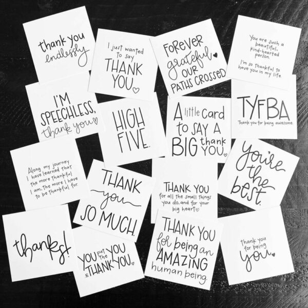Inspirational SMACK message cards – the {thankful} pack
