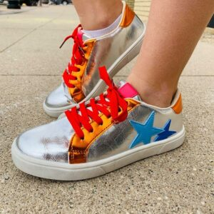 ARIA SILVER SNEAKERS (8779)