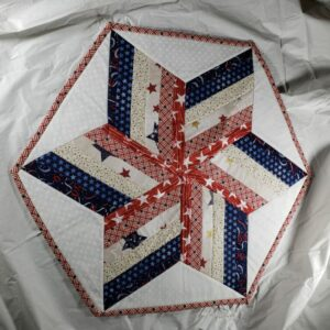 Red, White &Blue Table Topper