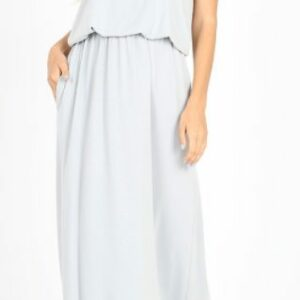 Light Gray Two Layer Maxi Dress