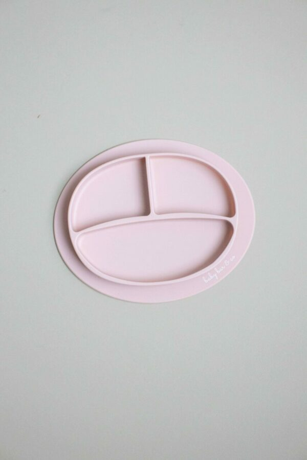 Baby Bar & Co Silicone suction Plates dusty pink