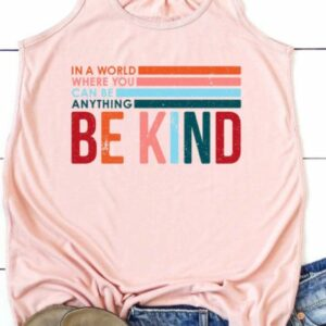 Be Kind Flowy Graphic Tank