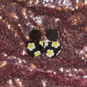 Midnight Daisy Earrings