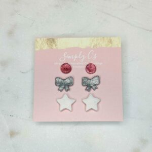 Pink Bow Earring Pack
