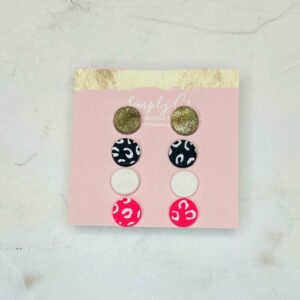 Cheetah Stud Earring Pack