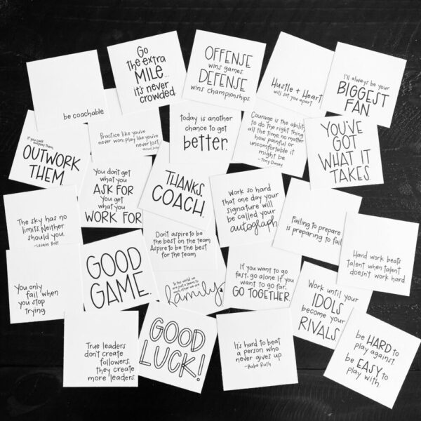 Inspirational SMACK message cards – the {athlete} pack