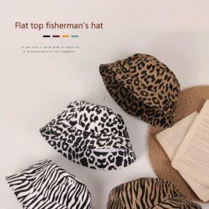 animal print bucket hats