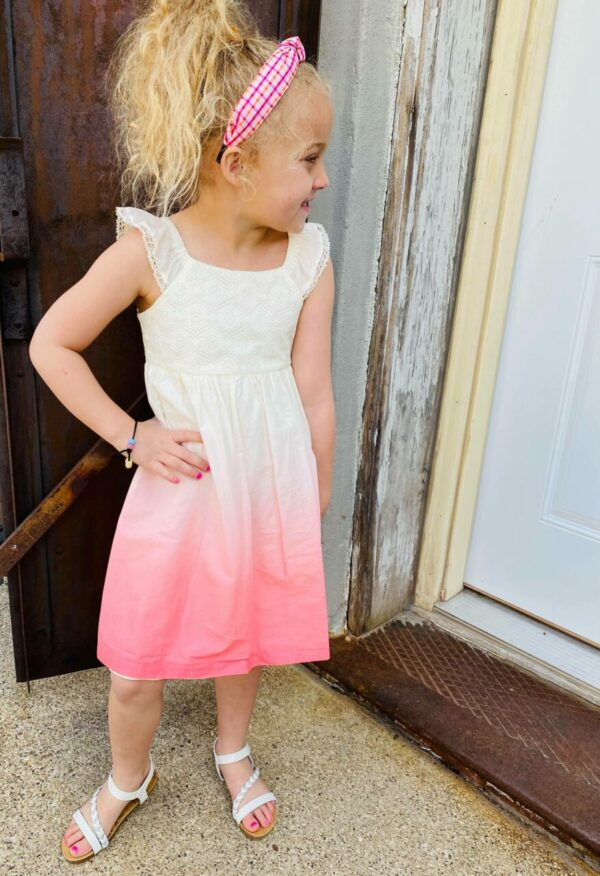coral ombre dress