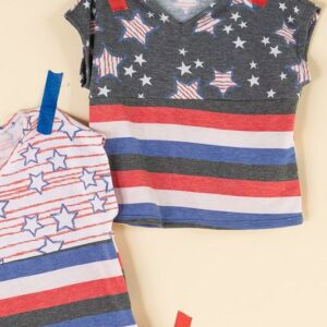 charcoal stars and stripes top