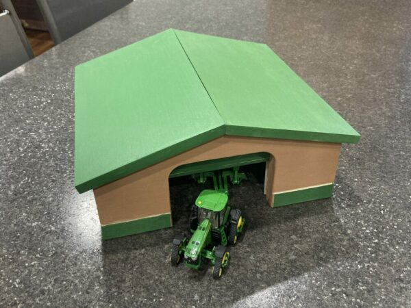 Handmade Wooden 1/64th Scale Machine Shed Toy Farm Building