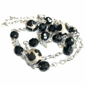 Handmade leopard print necklace