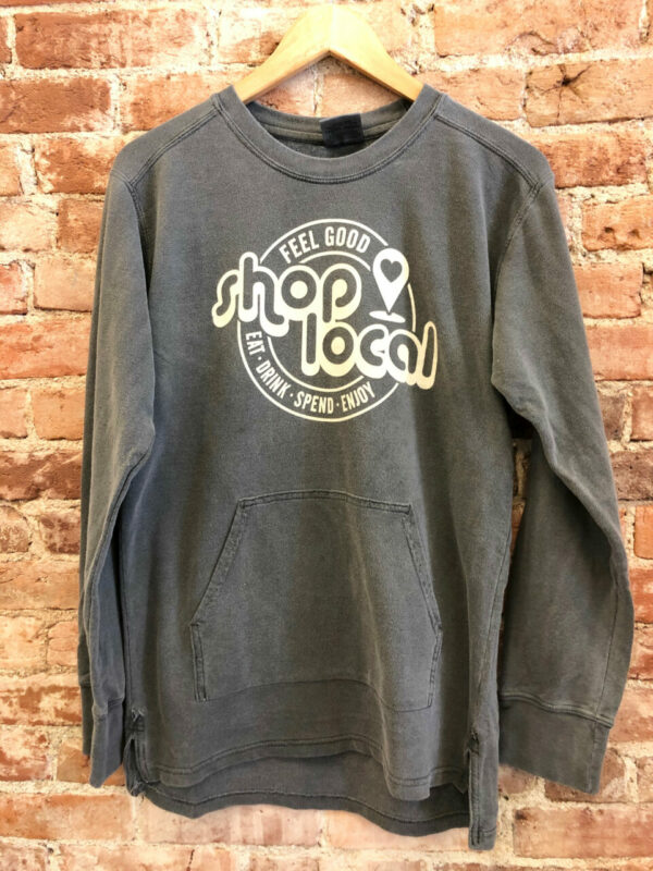 'Shop Local' French Terry Pullover with Pocket (More Colors)